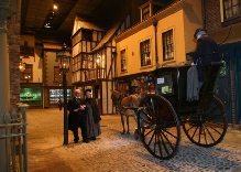 Exhibition Plus. A new look at the famous Victorian Street. Light and sound programme.  Day to night